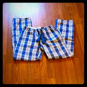 Faded Glory blue plaid sleep pants (S)